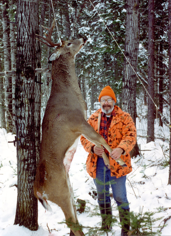 Doc a 300 plus pound buck. (1993, 8-pointer)