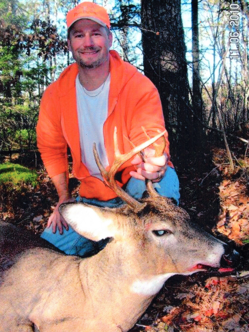 Doc's son Ken with another nice buck. (2010, 6-pointer)