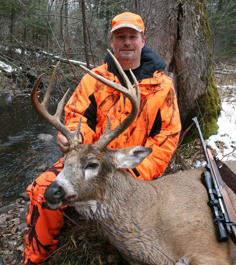 Doc's son Ken with his huge, trophy-class, 2012, 8-point whitetail buck.