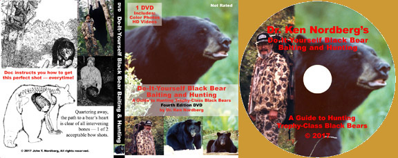 Dr. Ken Nordberg's do-it-yourself Black Bear Baiting & Hunting, Fourth Edition DVD Info